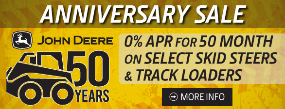 John Deere Compact Construction Equipment 50 Anniversary Sale