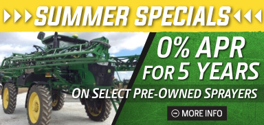 John Deere Pre-Owned Sprayers Summer Specials