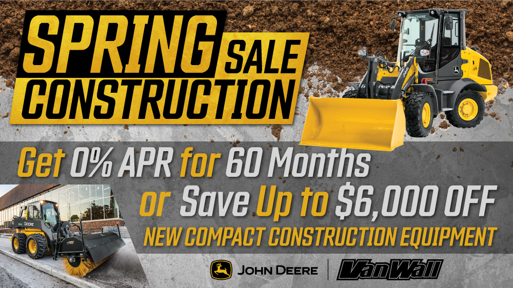 Spring Construction Sale