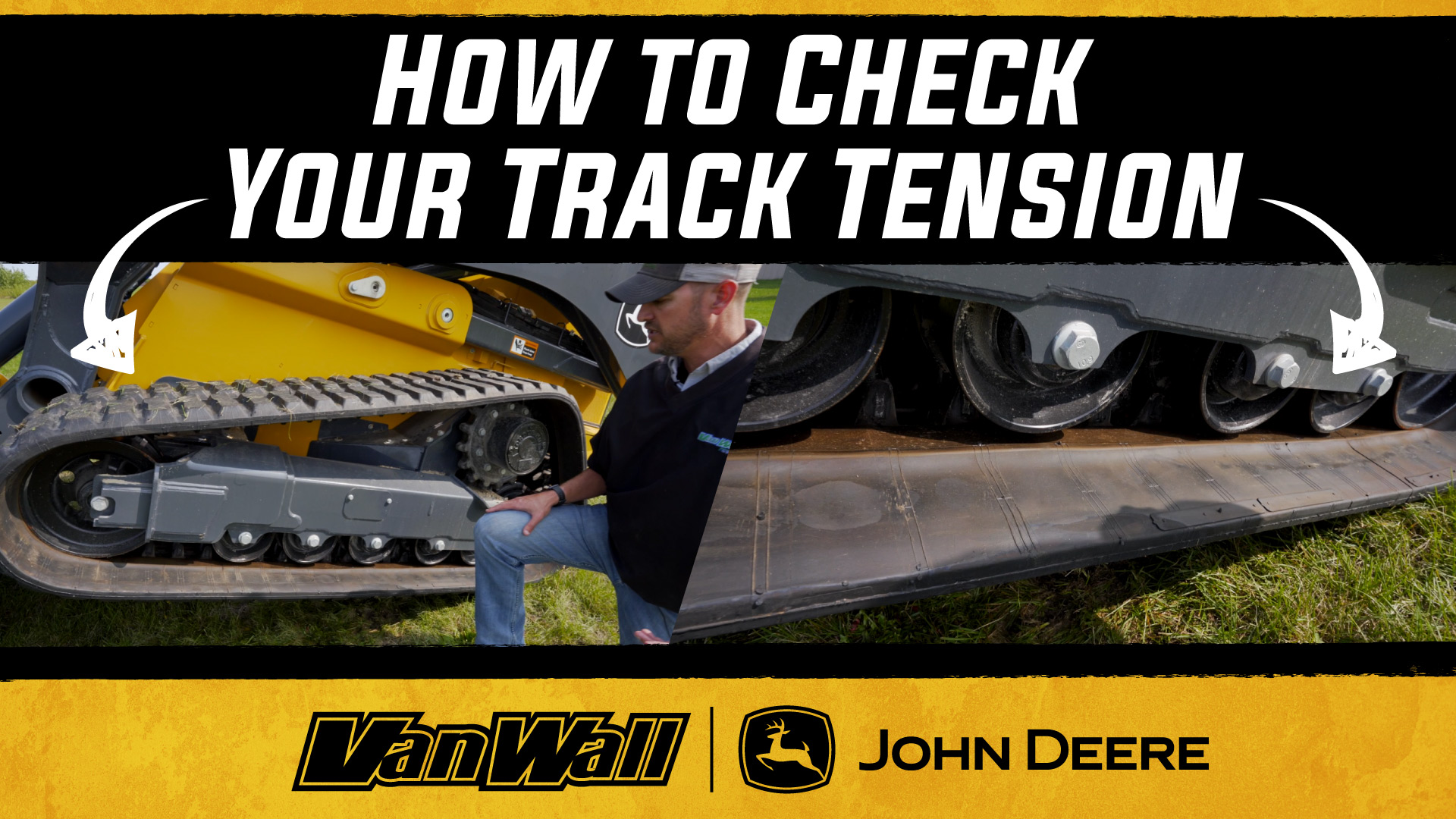 How to check your track tension on a track loader